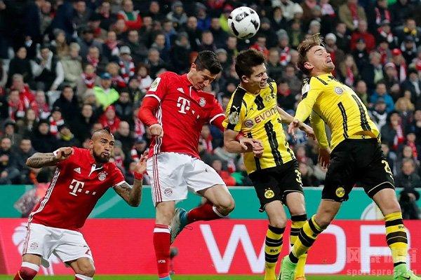 拜仁在交锋中一直处于优势