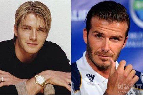 贝克汉姆从年轻到成熟的发型变化