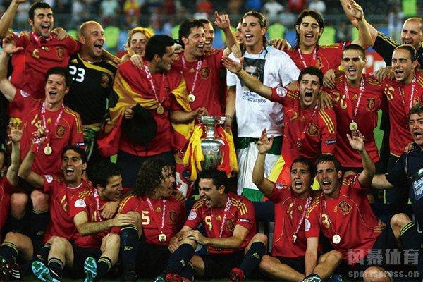 西班牙夺得08年欧洲杯冠军