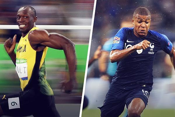 姆巴佩速度有多快!对比短跑运动员你就知道!