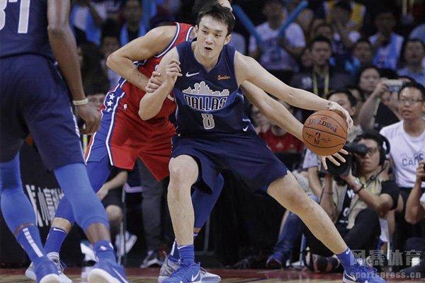丁彦雨航曾出场NBA中国赛