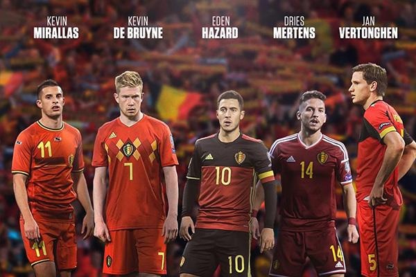 比利时最近两年一直是世界第一,德布劳内更是处于巅峰,这也让比利时中场任意球更加强大