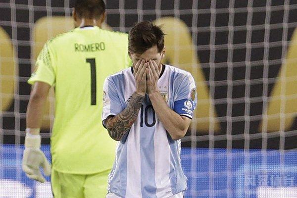 梅西泪洒美洲杯