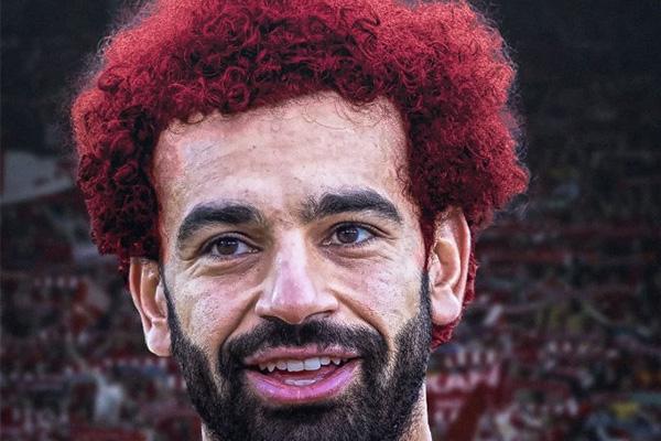 萨拉赫染上红发有一丝妖气,不得不说足球踢得更加给力