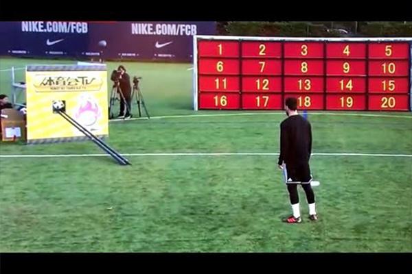 梅西的射术如此精湛!梅西参加综艺的射门准度爆表!