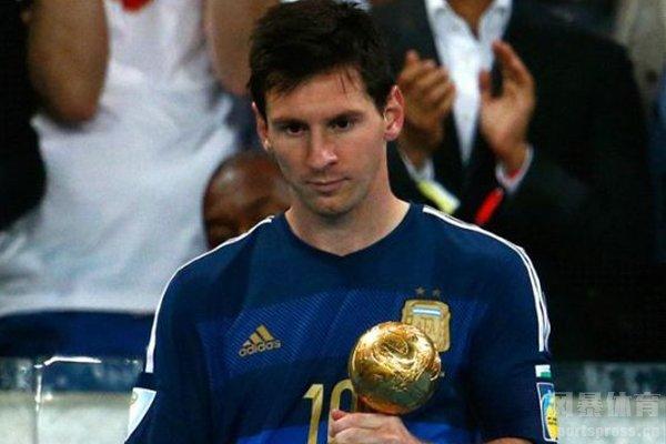 梅西获得2014世界杯金球奖