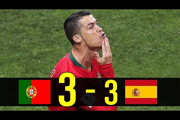 C罗天神下凡的时刻!C罗帽子戏法绝平西班牙!