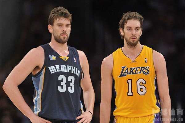 加索尔兄弟在NBA交手