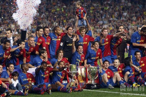 巴萨在近十年获得过6次西甲冠军