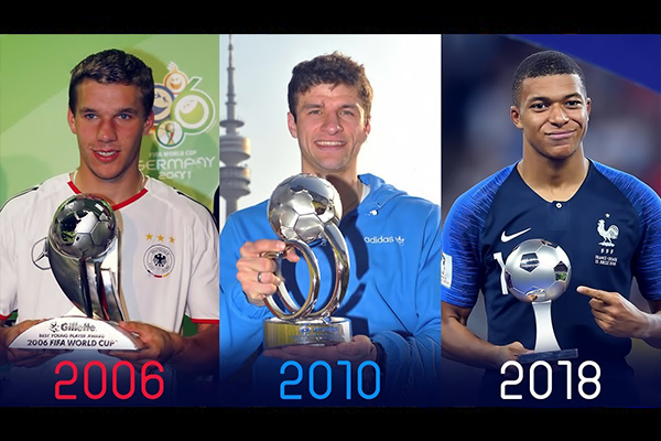 姆巴佩领衔的世界杯金靴奖!盘点这些年世界杯金靴奖的获得者!