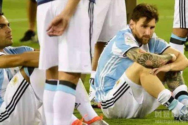 梅西在国家队拥有悲惨的回忆