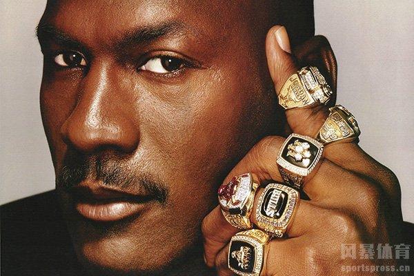 乔丹有6枚NBA总冠军戒指