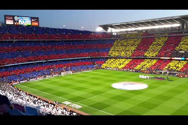 <b>诺坎普球场的壮观!红蓝军团巴萨球迷的朝圣之地!</b>