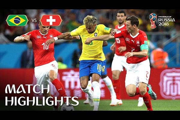 2018世界杯巴西艰难战平瑞士!盘点库里尼奥的精彩表现!