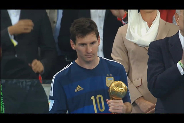 梅西2014世界杯的精彩集锦!最后的画面实在让人心疼!