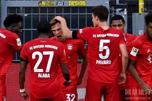 德甲第28轮拜仁2比1击败多特!拜仁本赛季冠军基本稳了!