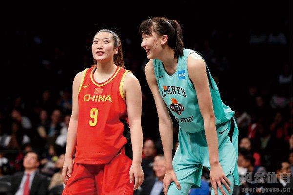 韩旭代表自由人队征战WNBA