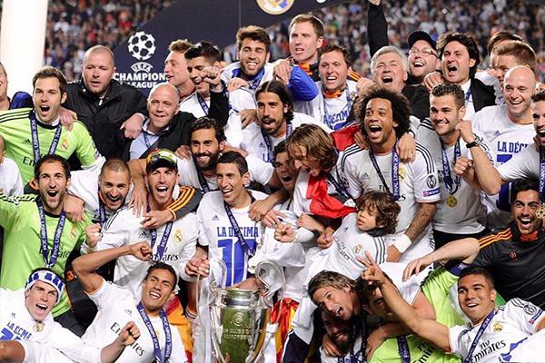 皇马在15/16赛季获得欧冠冠军,那时是皇马二代银河战舰的巅峰期