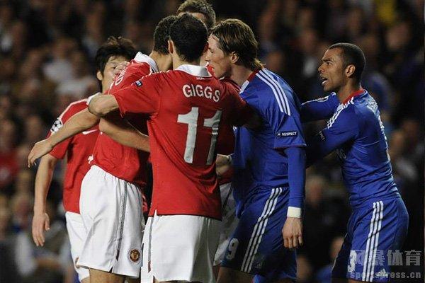 切尔西和曼联拥有着很严重的激烈对抗