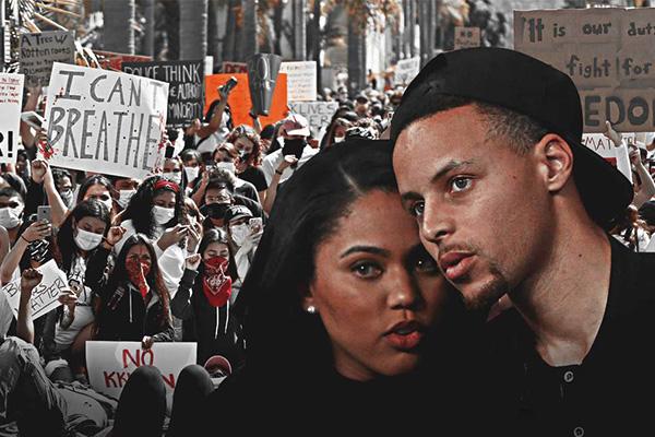 库里夫妇参加游行 水花兄弟字母哥等球星纷纷走向街头抗议