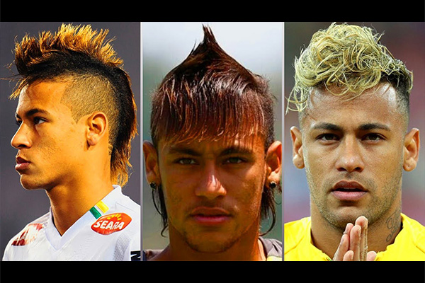 内马尔这些年的发型变化!盘点内