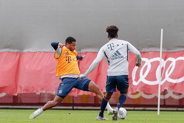拜仁训练备战 德国杯拜仁势在必得