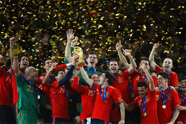 回忆2010世界杯 西班牙获得世界杯冠