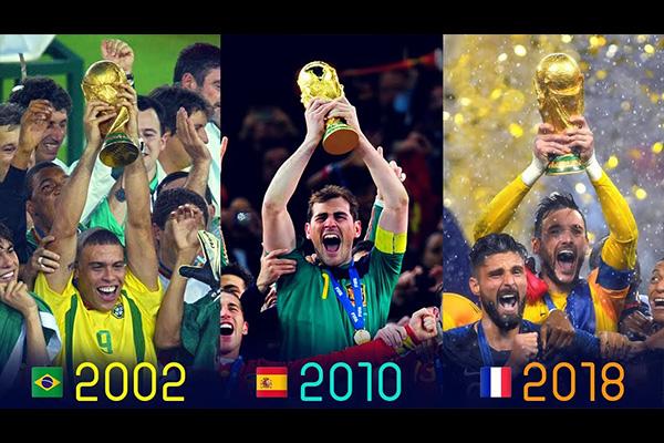 世界杯冠军是最重要的团队奖项!盘点历届世界杯冠军!