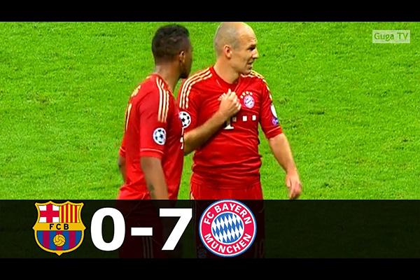 拜仁两回合7比0大败巴萨!盘点全场精彩的表现!