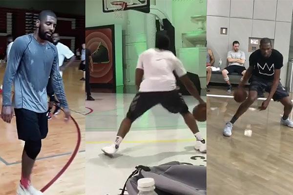 NBA球星单挑路人视频 NBA球星与路人打球视频