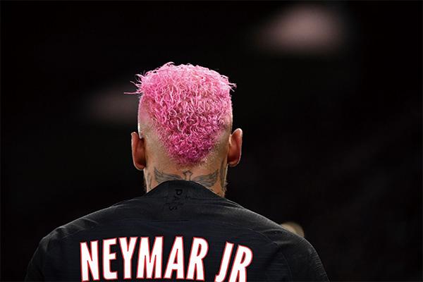 内马尔粉色头发