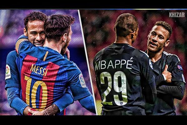 内马尔球场上两个完美的搭档!谁更厉害呢!
