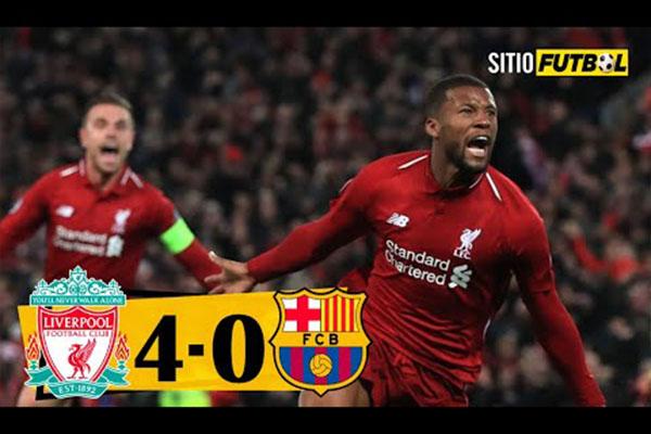 <b>利物浦4比0击败巴萨!盘点安菲尔德奇迹!</b>