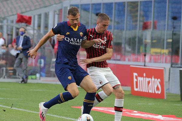 AC米兰2比0击败罗马 AC米兰本赛季有机会冲击欧联