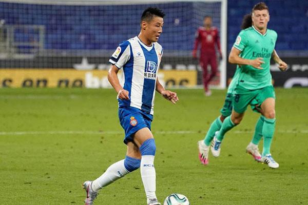 西班牙人0比1不敌皇马 武磊获得队内第二高评分