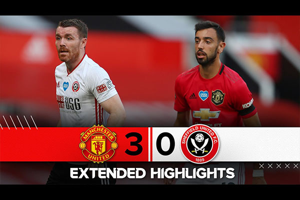 曼联3比0击败谢菲尔德联!曼联直追切尔西!