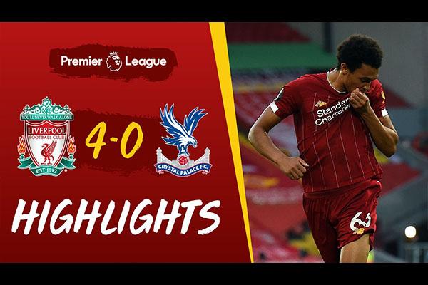 <b>利物浦4比0击败水晶宫!利物浦的力量再度回归!</b>