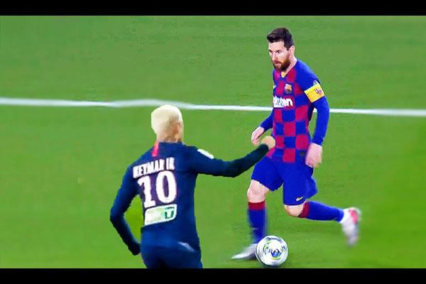 梅西的过人没人能阻挡!盘点梅西过去与队友的交锋!