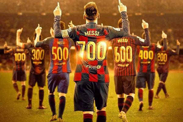 目前的梅西已经在职业生涯之中打入了700粒进球,不得不说梅西拥有着十分强大的表现