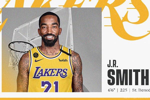 湖人正式签下JR史密斯 詹皇带刀侍卫回归