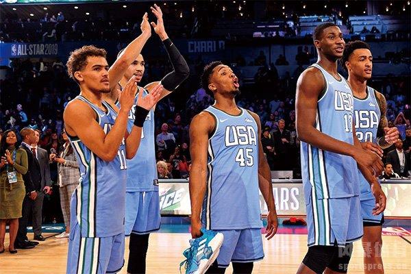 NBA新秀赛的美国队