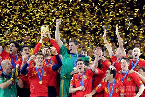 西班牙队在2010年获得世界杯冠军