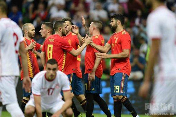 西班牙队阵容十分强大