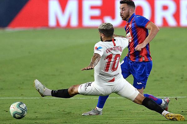 塞维利亚1比0击败埃瓦尔 塞维利亚稳居欧冠区
