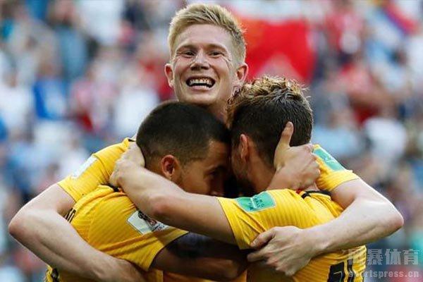 目前比利时国家队位居世界第一