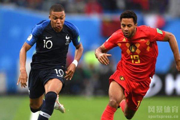 法国队和比利时队位居世界第一第二