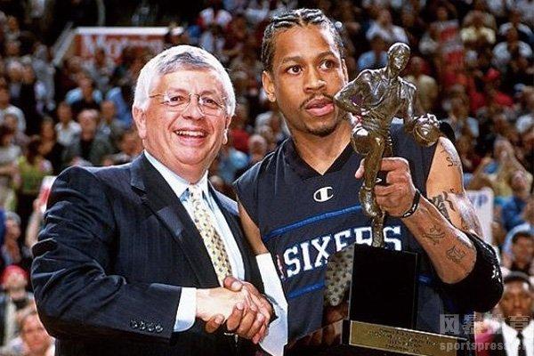 艾弗森获得常规赛MVP