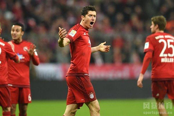 拜仁在德甲之中基本是通吃任何球队