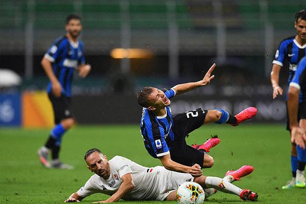 意甲联赛第35轮,国际米兰主场0比0战平佛罗伦萨