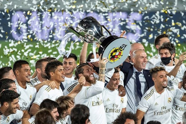 皇马最终夺得本赛季西甲冠军